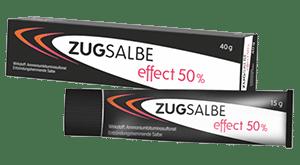 Zugsalbe effect 50%